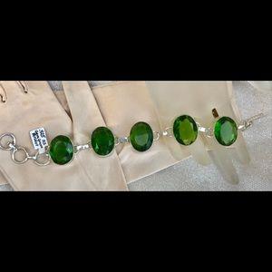 Jewelry - 925 Bracelet Gem Green Peridot NWOT